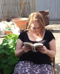 liz getting caught reading