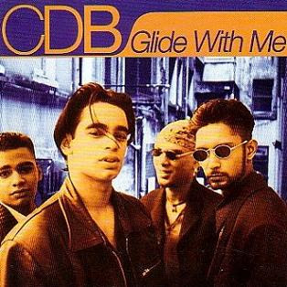 Album art from CDB's first album -- four gorgeous young men of Middle Eastern or Mediterranean descent stare broodingly at the camera. They are so sincere.