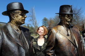 GILLARD STATUES UNVEILING CANBERRA