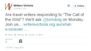 writer's victoria tweet: