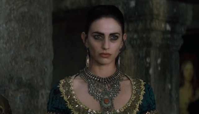 Claudia as Pandora in Queen of the Damned