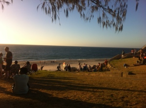 cottesloe in the setting sun