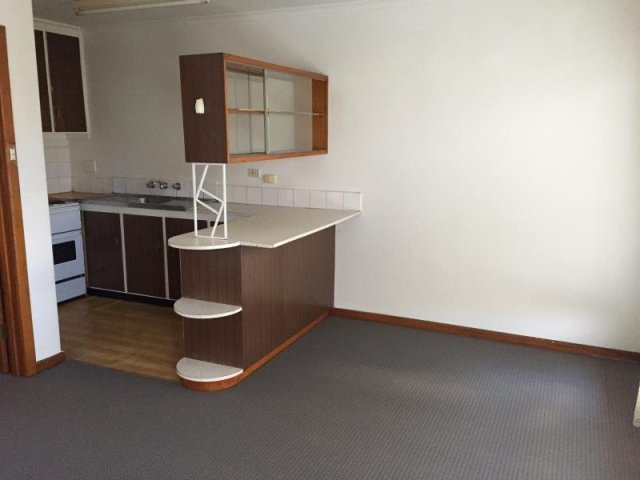 This retro kitchen would absolutely be worth missing work for, except for the no pets rule.
