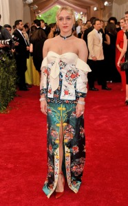 chloe sevigny in a mess of a dress made of traditional silks