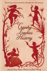 Cover of Cranky Ladies of History - red silhouette people