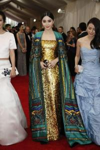 fan bing bing in an amazing bu creation of yellow and green
