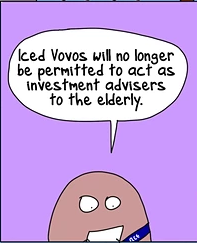 iced vovos will no longer be permitted to act as investment advisers to the elderly
