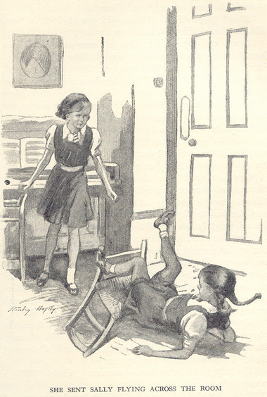 Illustration from the first edition. The girls look a lot younger than twelve here.