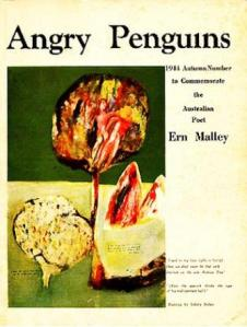 The cover of the issue of Angry Penguins in which Ern Malley's poetry was first published.