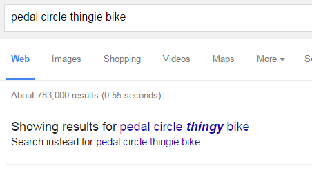 Screenshot of a Google search for
