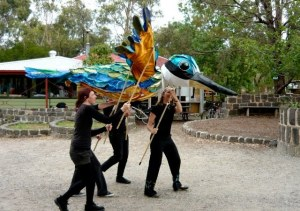 sacred kingfisher puppet