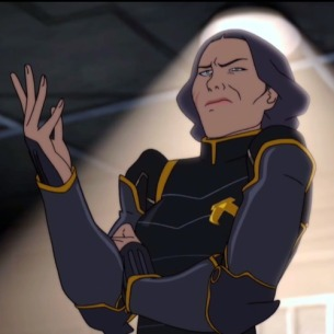 Image: Screencap from Legend of Korra - Lin Beifong throws her hand up in disbelief, a look of irritation and confusion on her face.