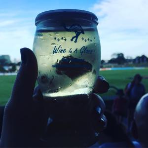 wine in a glass on a background of Whitten oval